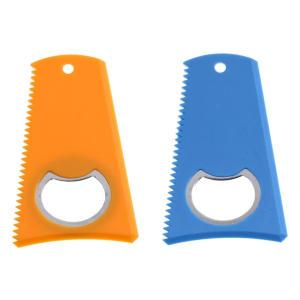 2 Surfboard Wax Comb With Bottle Opener
