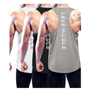 3 Pack Men's Muscle Workout Tops