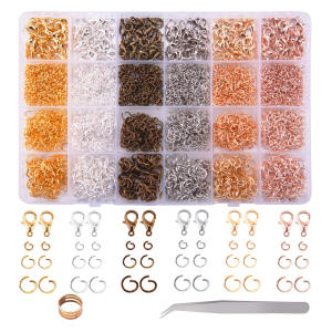 3180 Pieces Open Jump Rings and Lobster Clasps