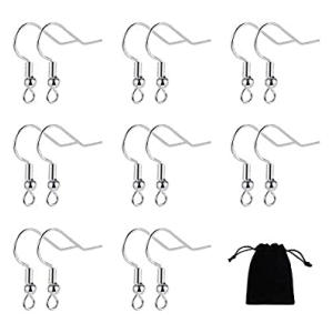 40 Pairs 925 Sterling Silver Earring Hooks