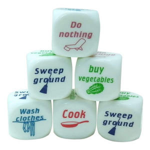 6 Pieces Housework Distribution Dices
