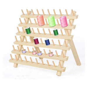 60 Spools Wooden Sewing Thread Rack