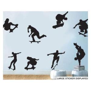 8 Skateboard Silhouette Wall Stickers