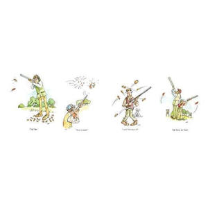 A5 Clay Pigeon Shooting Cards X 4