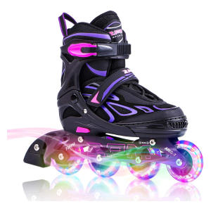 Adjustable Light Up Kid Inline Skates