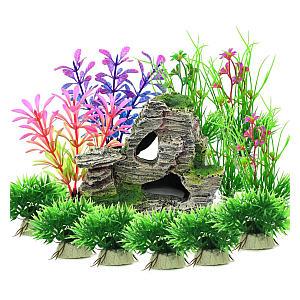 Aquarium Decoration Plants With Rock