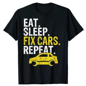 Eat Sleep Fix Cars Repeat T Shirt