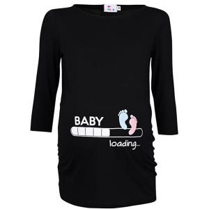 Woman's Maternity Funny Print T-Shirt
