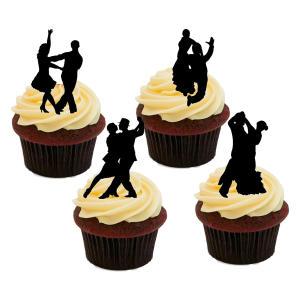 Ballroom Dancing Cake Topper Silhouettes