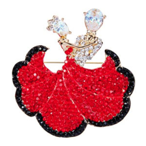 Ballroom Dancing Couple Brooch
