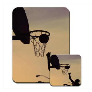 Basketball Mousemat & Coaster Set