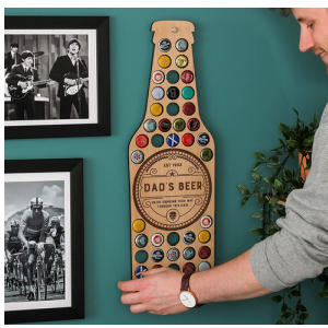 Beer Cap Collector Wall Art