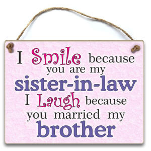 Sister in Law Wooden Plaque