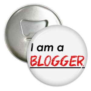 Blogger Bottle Opener Refrigerator Magnet