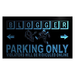 Blogger Neon Parking Sign