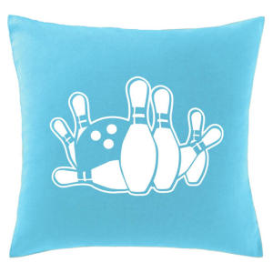Ten Pin Bowling Printed Cushion