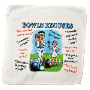 Bowls Excuses Microfibre Cleaning Cloth