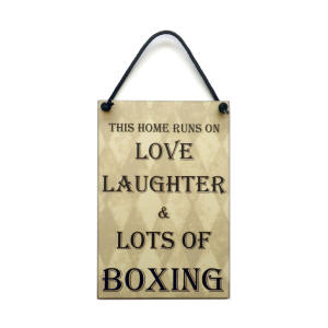 Boxing Handmade Wooden Sign