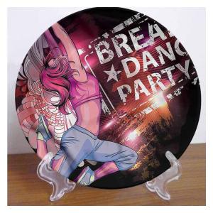 Break Dance Round Ceramic Plate