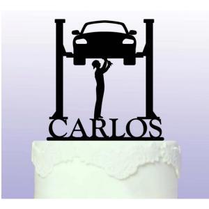 Personalised Car Mechanic Cake Topper