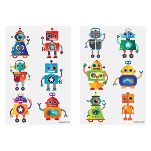 Children's Robot Temporary Tattoos