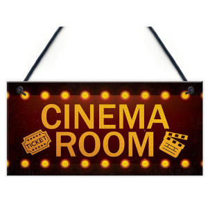 Cinema Room Wall Plaque