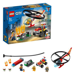 City Fire Helicopter Response Toy