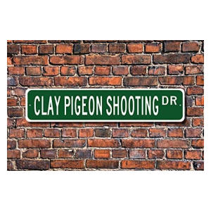Clay Pigeon Shooting Metal Sign