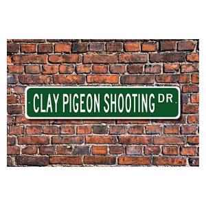 Clay Pigeon Shooting Metal Sign