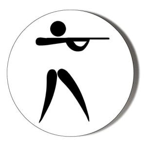 Clay Pigeon Shooting Novelty Badge