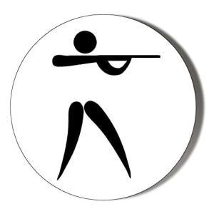 Clay Pigeon Shooting Novelty Badge