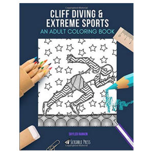 Cliff Diving Colouring Book