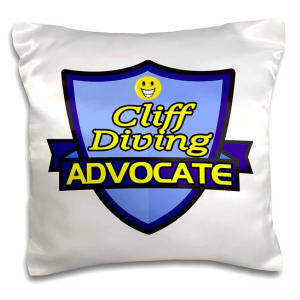Cliff Diving Cushion Cover