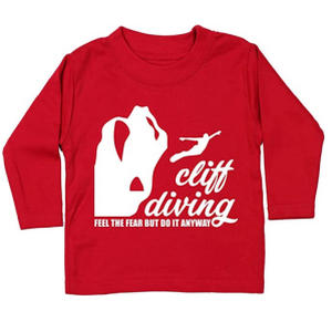 Cliff Diving Baby T Shirt