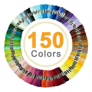 Cotton Embroidery Threads 150 Colours