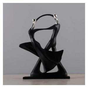 Couple Dancing Abstract Statue