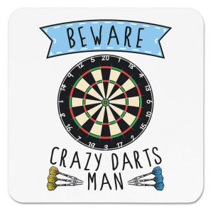 Crazy Darts Man Fridge Magnet