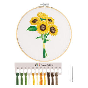 Cross Stitch Stamped Embroidery Starter Kit