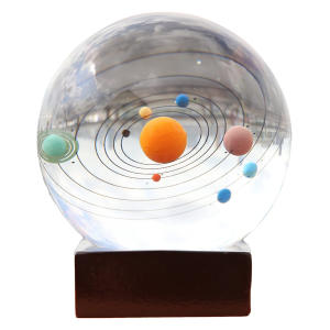 Crystal Solar System Paperweight