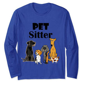 Pet Sitter Cartoon Long Sleeve T-Shirt