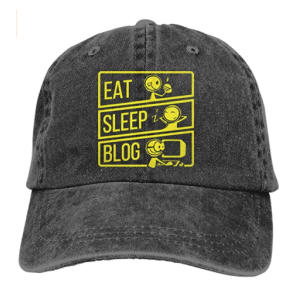 Eat Sleep Blog Baseball Cap