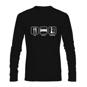 Eat Sleep Hookah Long Sleeve T Shirt