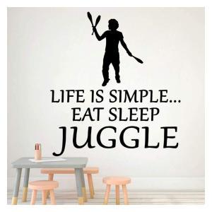Eat Sleep Juggle Wall Sticker