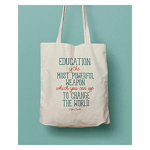 Education Quote Bag