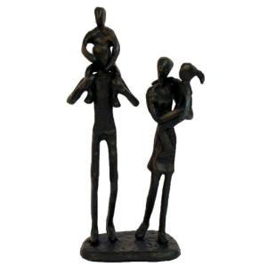 Family Outing Iron Figurine