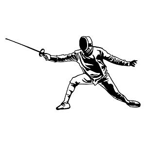 Fencing Wall Sticker Decoration