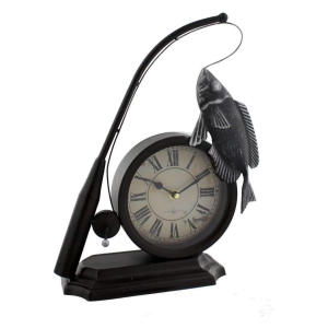Fishing Rod & Fish Clock