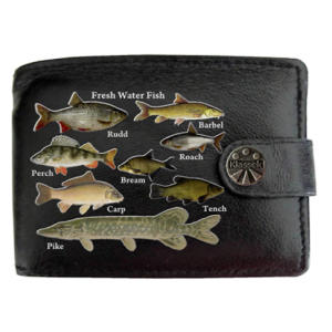 Freshwater Fish Leather Wallet