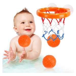 Fun Basketball Hoop & Balls Bath Game