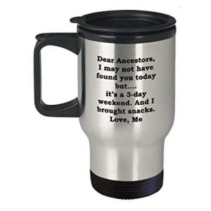 Funny Genealogy Travel Mug